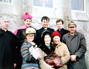 'Moll' L-r: Padddy Ryan, Jim Flynn, Tom Carr, Martin O'Grady, Leo Coffey, Elaine Kavanagh, Joan Murphy and Kitty Lardner.